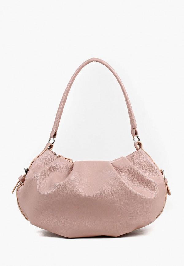 женская сумка с ручками медведково, розовая