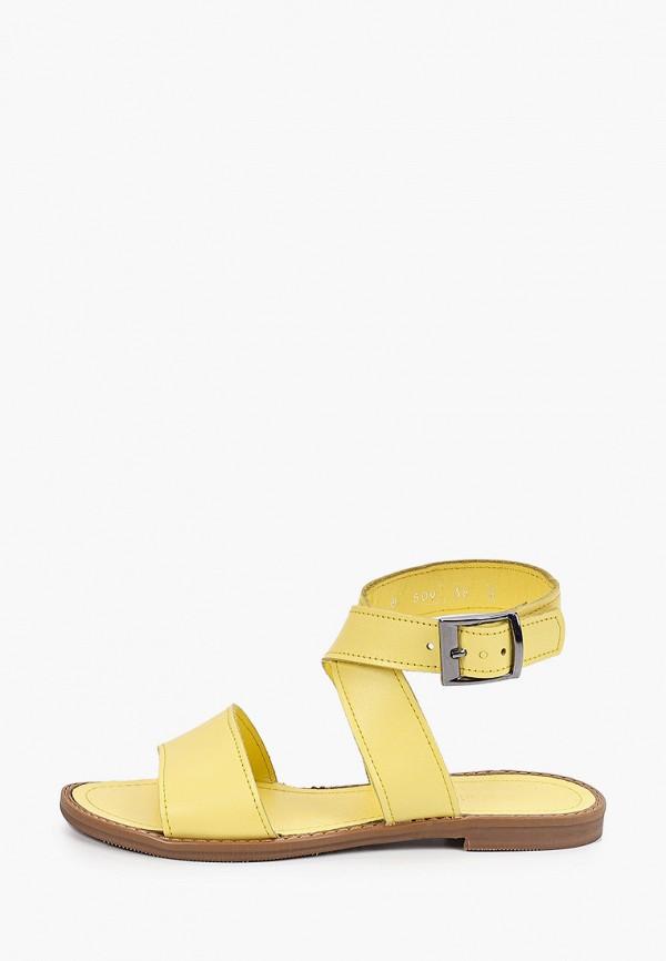 женские сандалии gresco, желтые