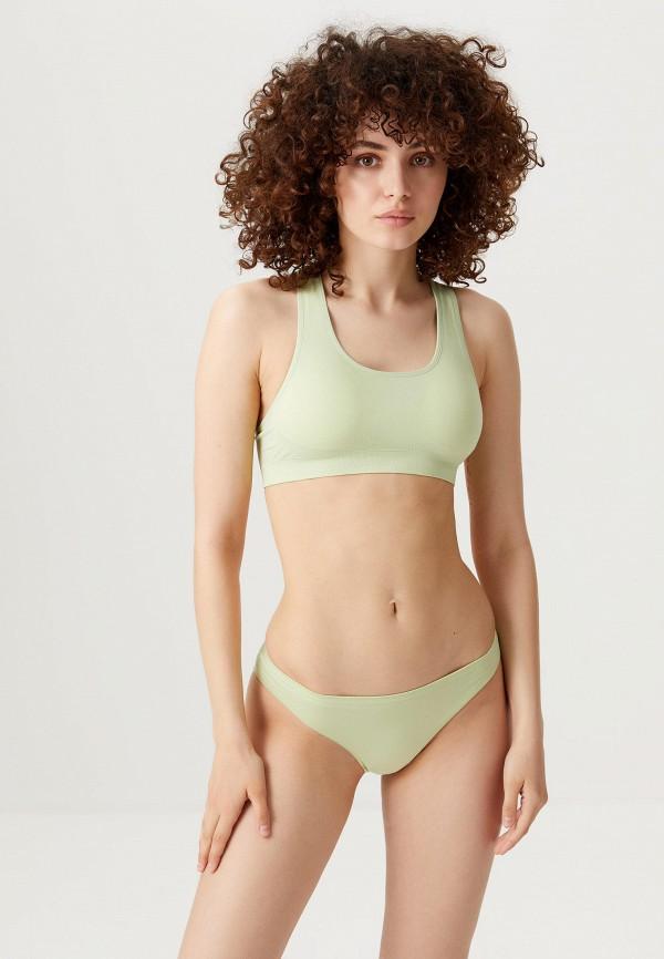 женский бюстгальтер без косточек sela, зеленый