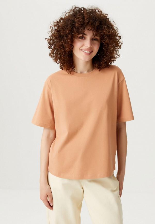 женская футболка sela, бежевая