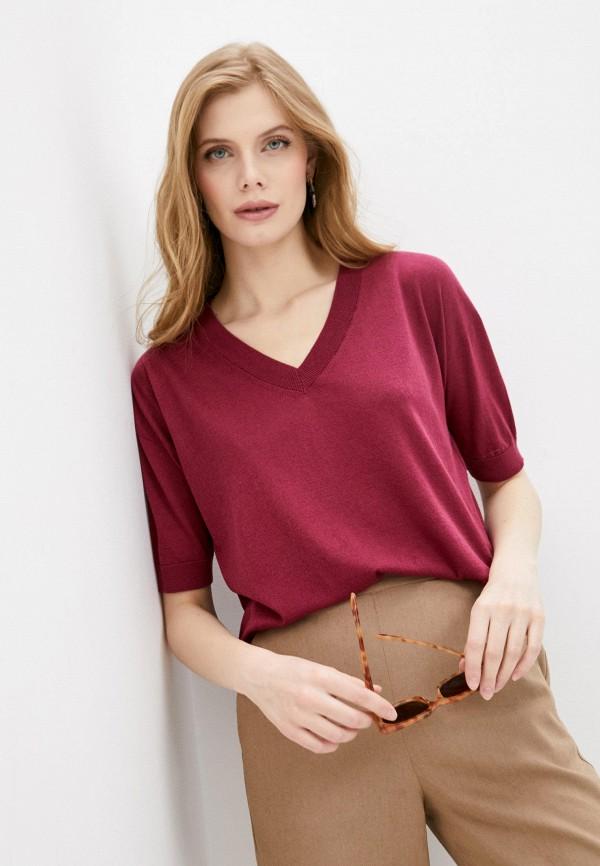 женский пуловер falconeri, бордовый
