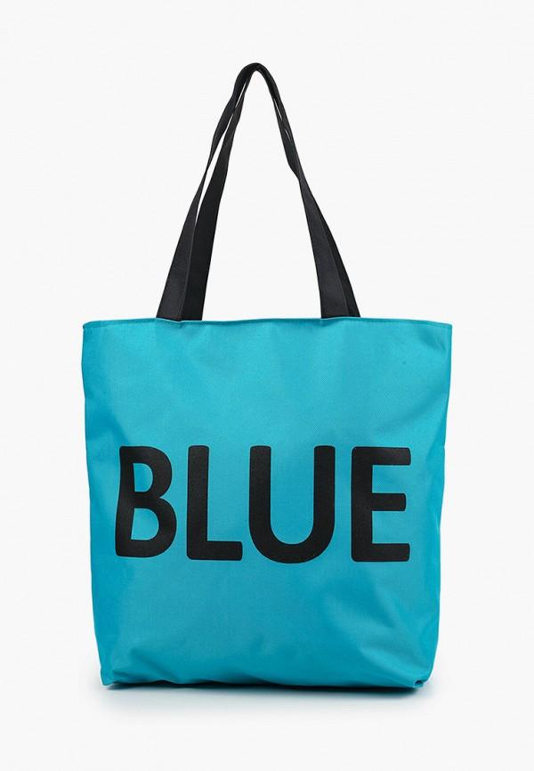 женская сумка-шоперы mon mua, бирюзовая