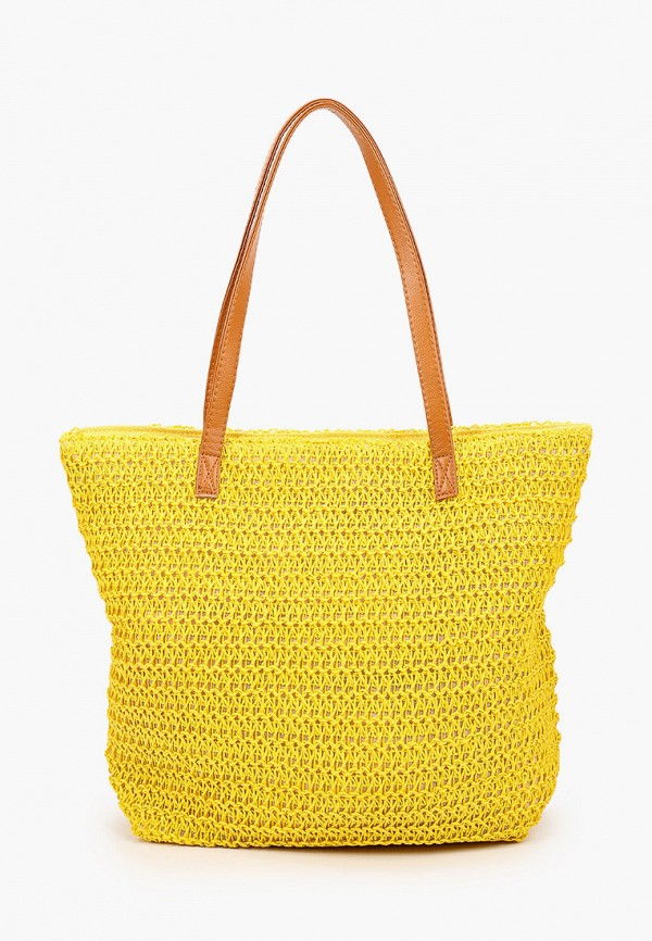 женская пляжные сумка mon mua, желтая