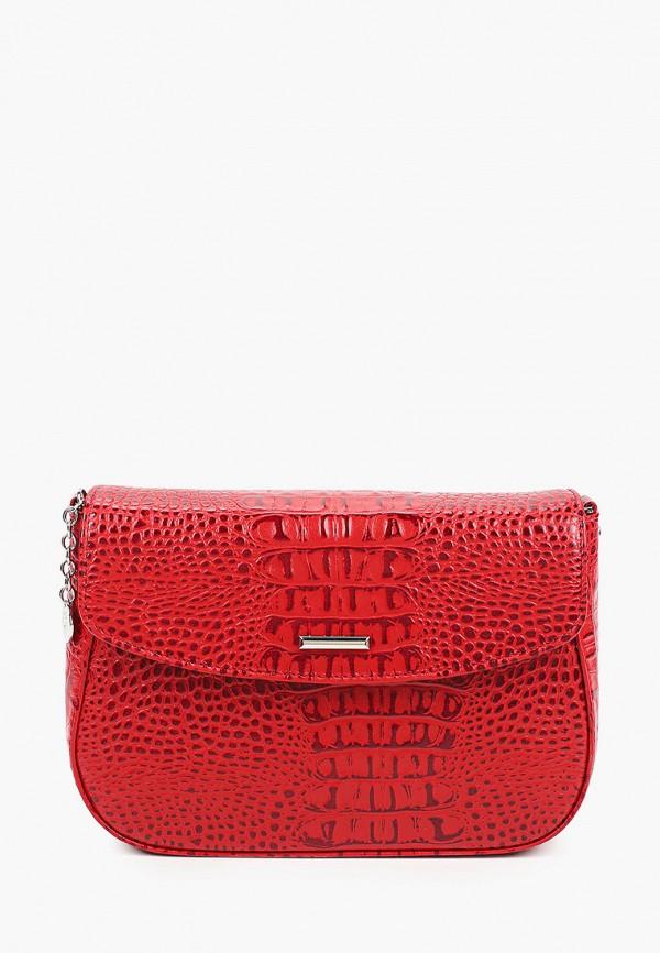 женская сумка через плечо sergio belotti, красная