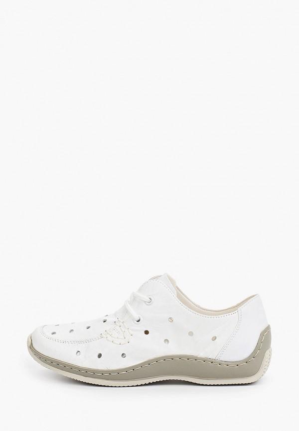 женские низкие ботинки rieker, белые