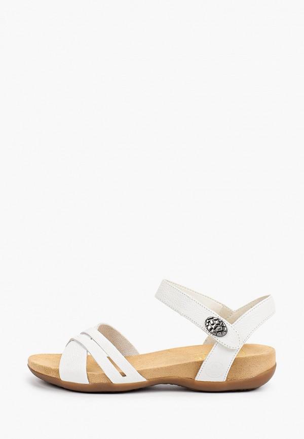 женские сандалии rieker, белые