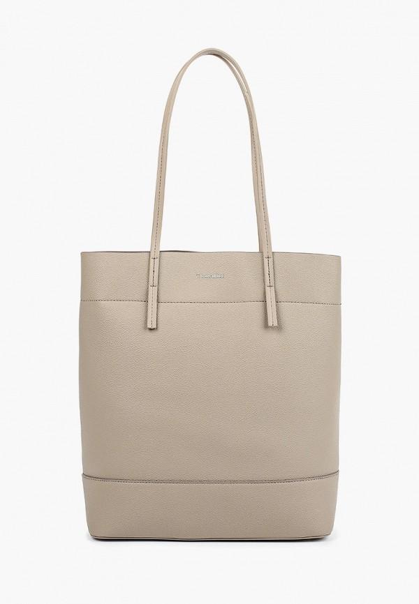 женская сумка-шоперы thomas munz, бежевая
