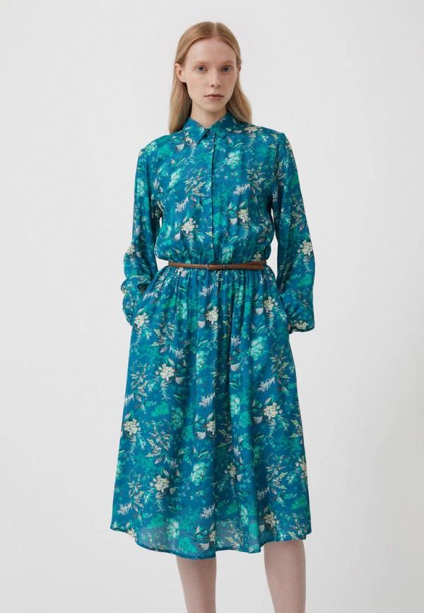 Платье Finn Flare бирюзового цвета