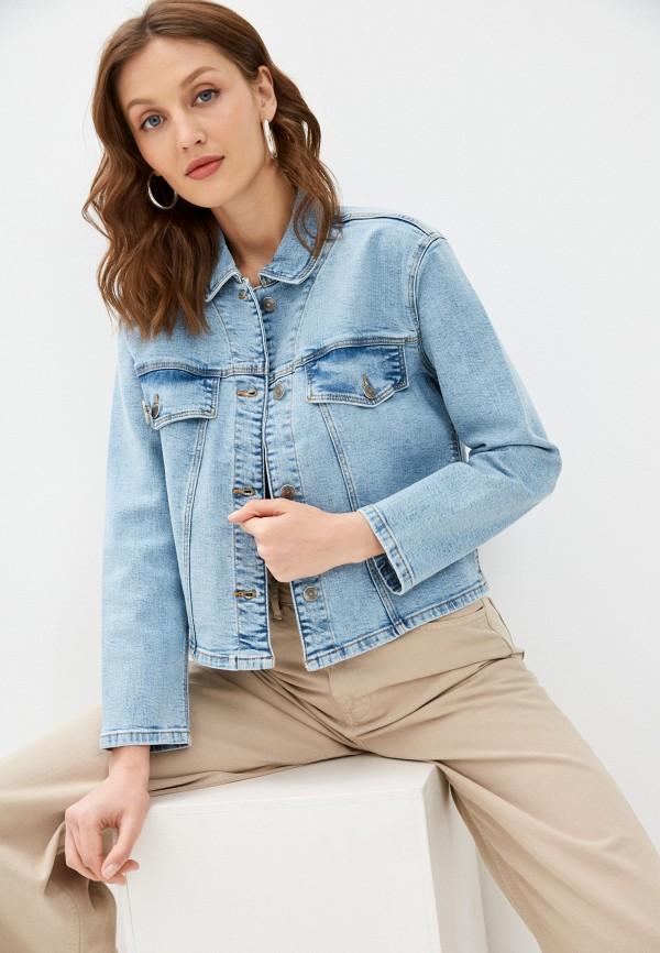 Куртка джинсовая Colin's голубого цвета