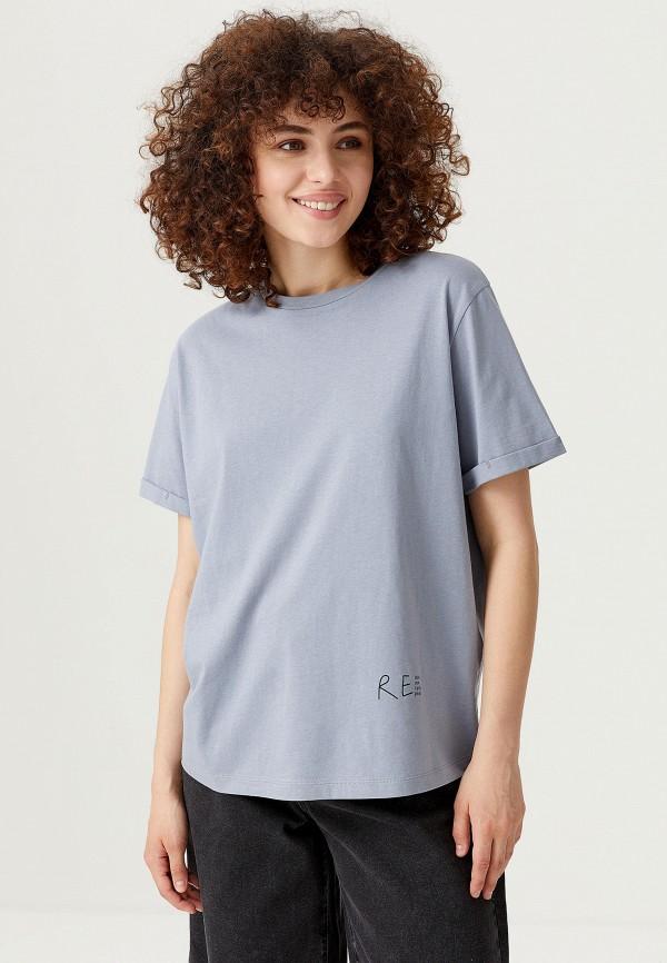 женская футболка sela, голубая