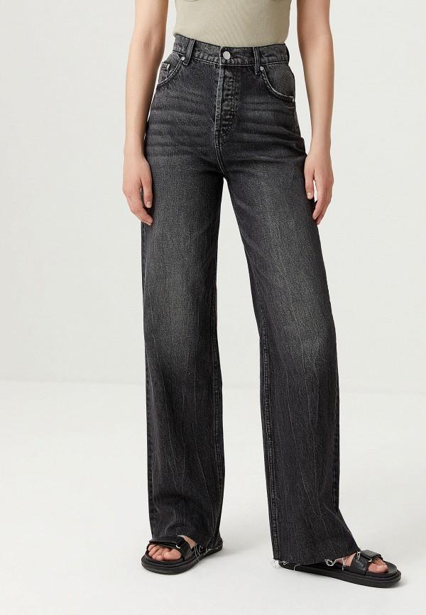 женские джинсы клеш sela, серые