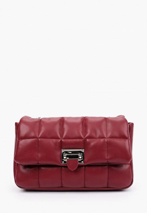 женская сумка через плечо lolli l polli, бордовая