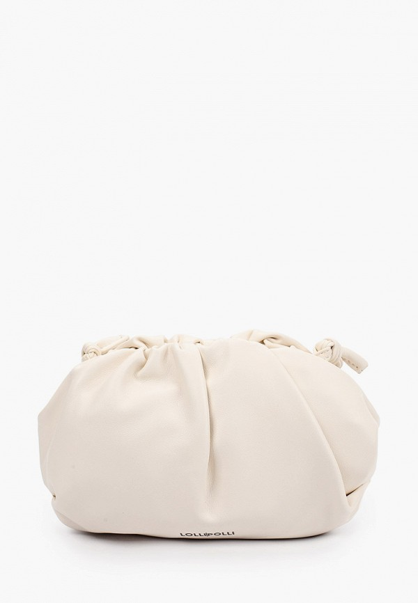 женская сумка через плечо lolli l polli, белая