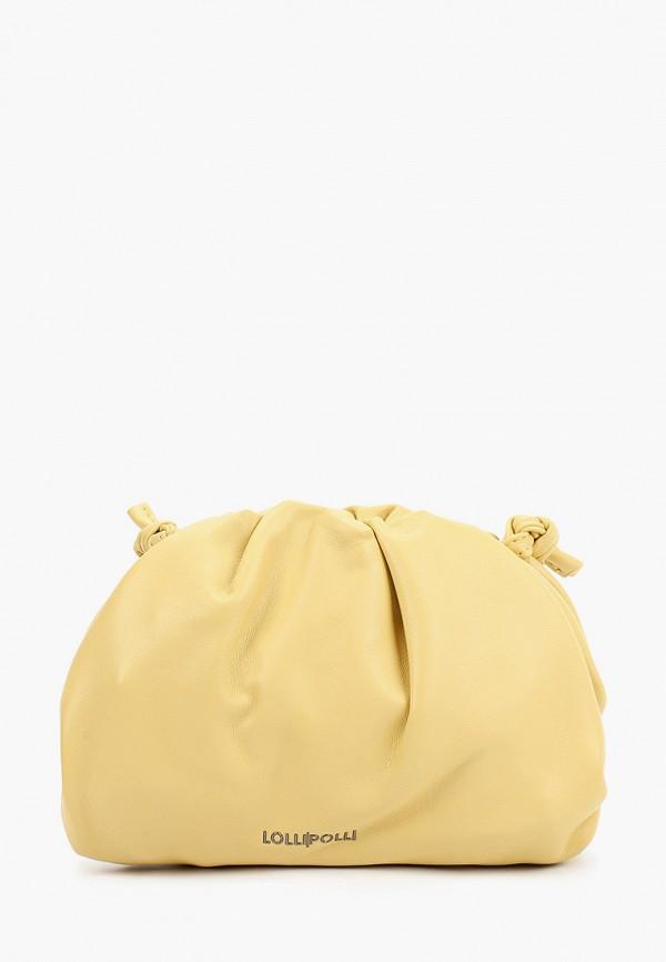 женская сумка через плечо lolli l polli, желтая