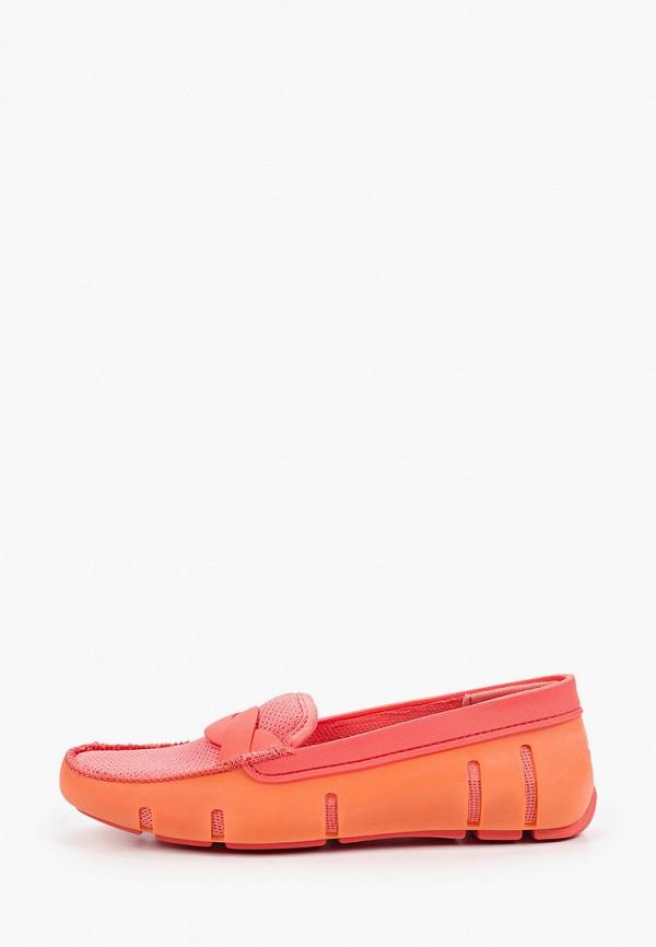 женские мокасины swims, оранжевые