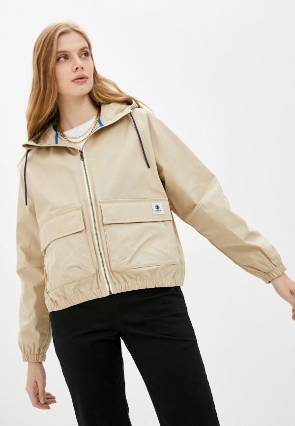 женская легкие куртка element, бежевая