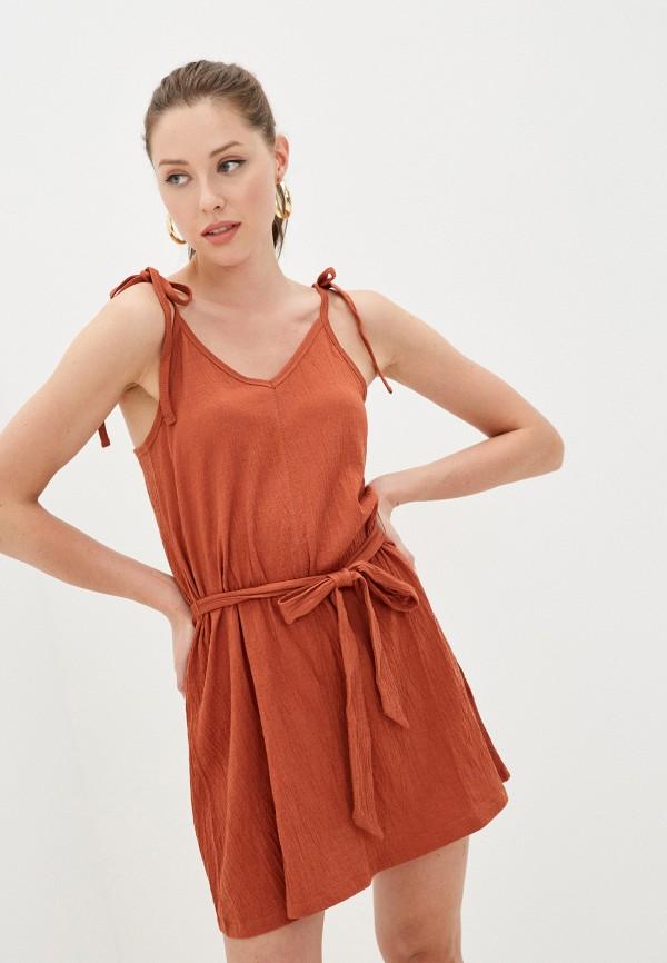 женский сарафан billabong, коричневый