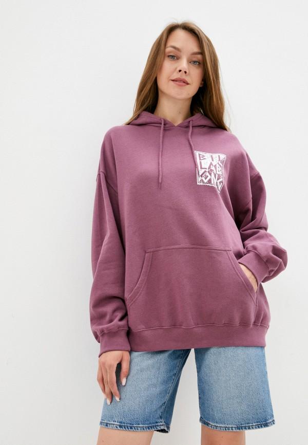 женские худи billabong, фиолетовые