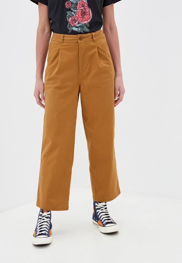 женские повседневные брюки element, коричневые