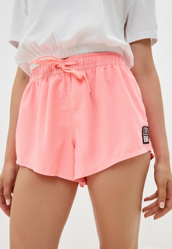 женские спортивные шорты billabong, розовые