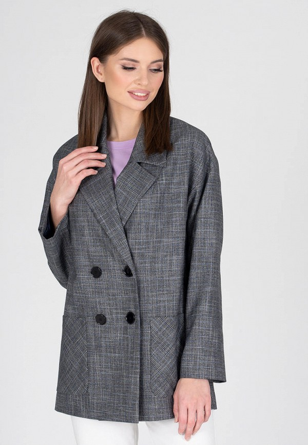 женский пиджак eliseeva olesya, серый