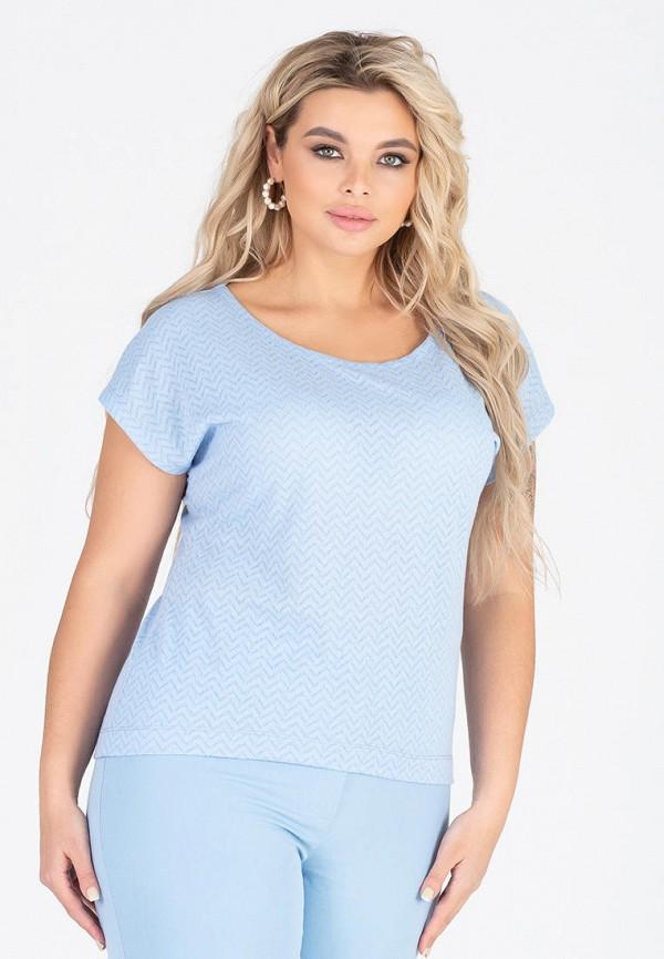 женская футболка eliseeva olesya, голубая