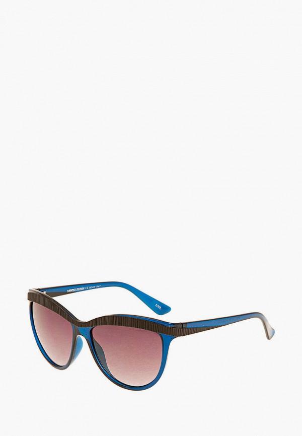 женские солнцезащитные очки кошачьи глаза mr, синие
