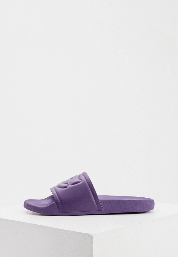 женские сланцы coach, фиолетовые