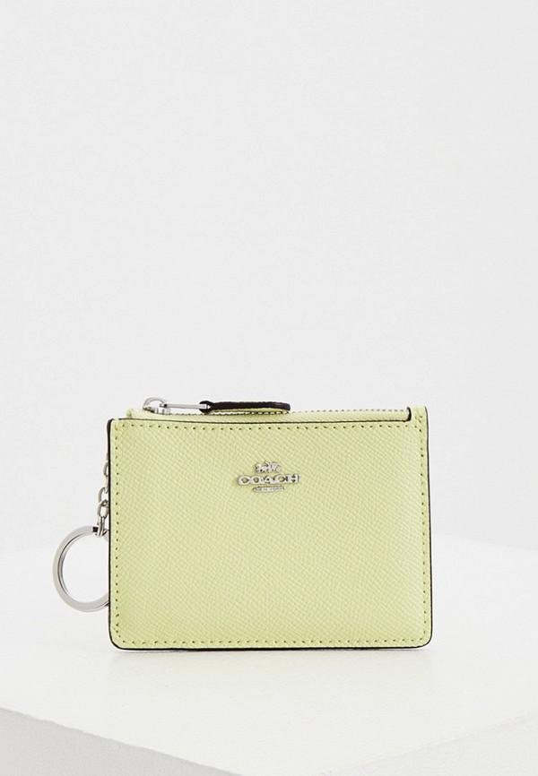 женский кошелёк coach, зеленый
