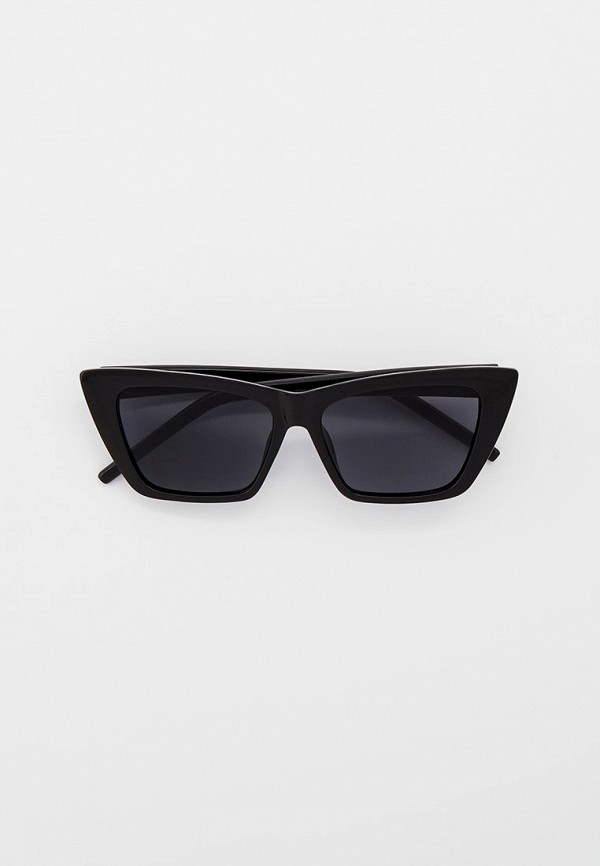женские солнцезащитные очки кошачьи глаза vitacci, черные