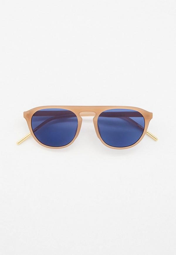 женские круглые солнцезащитные очки vitacci, коричневые