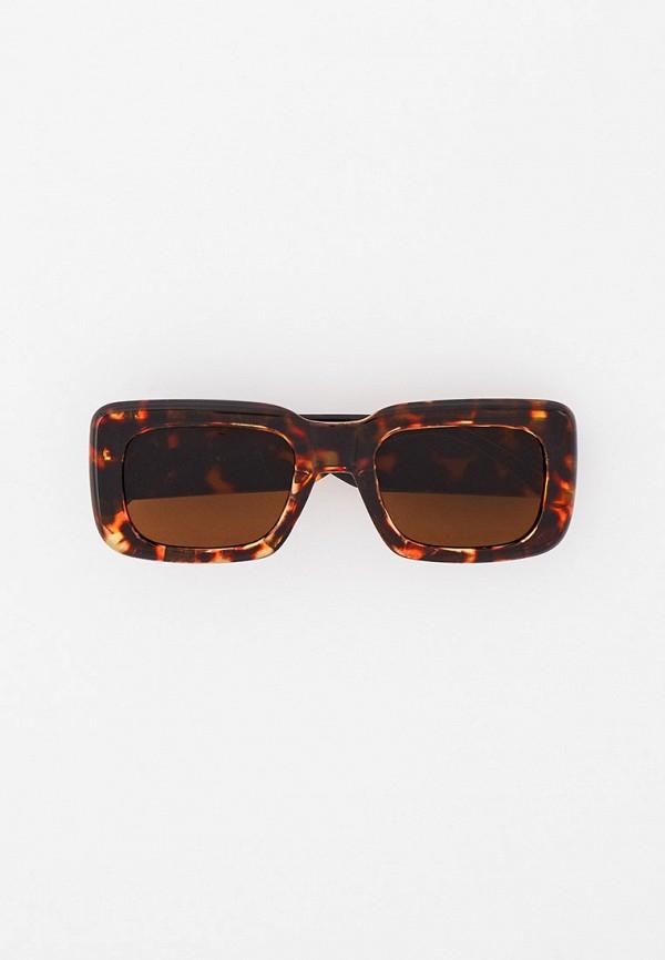 женские квадратные солнцезащитные очки vitacci, коричневые