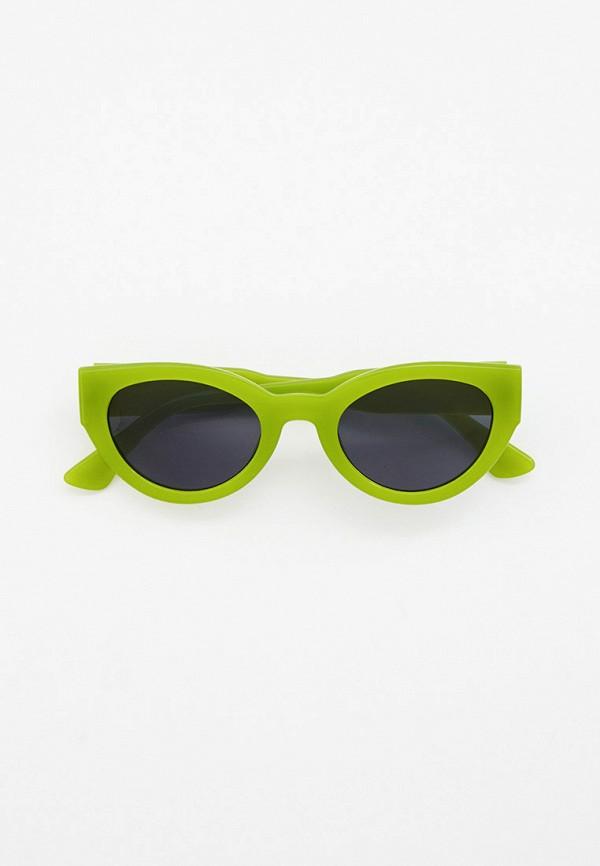 женские круглые солнцезащитные очки vitacci, зеленые
