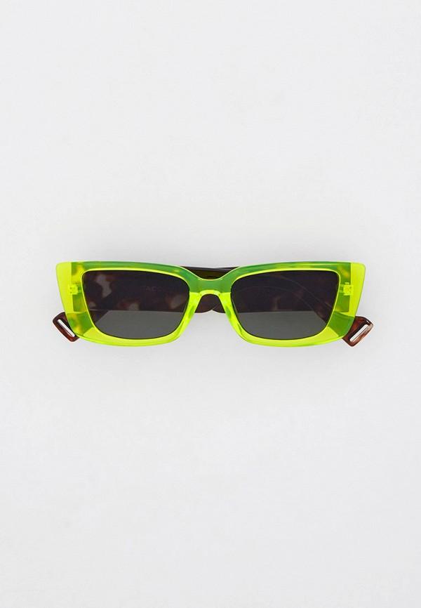 женские солнцезащитные очки кошачьи глаза vitacci, зеленые
