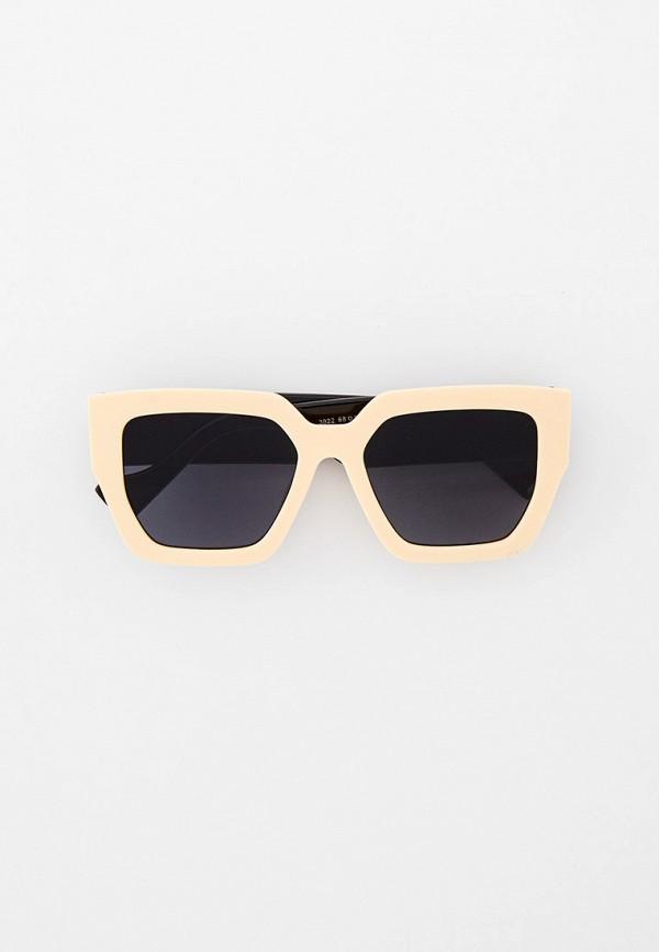 женские квадратные солнцезащитные очки vitacci, бежевые