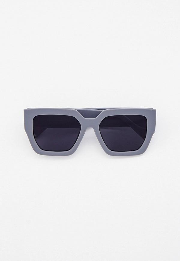 женские квадратные солнцезащитные очки vitacci, серые