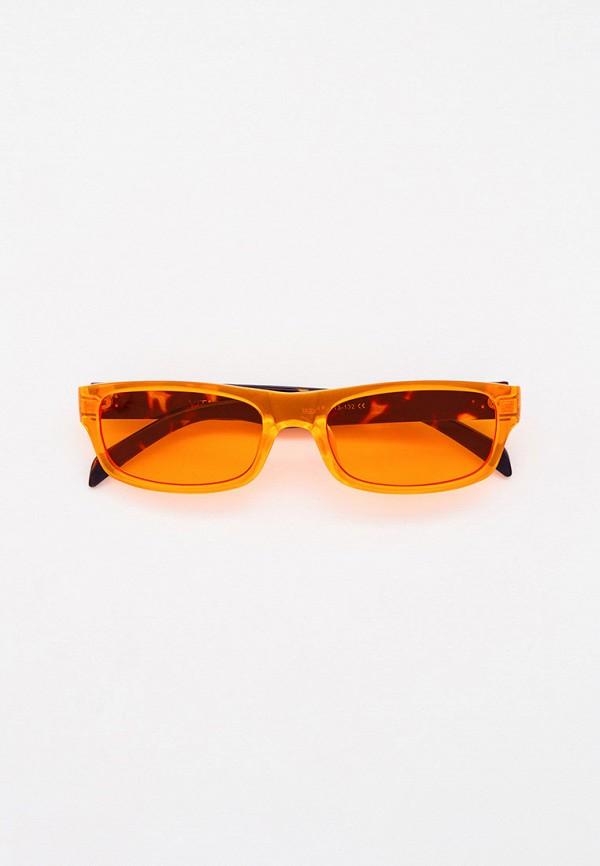 женские солнцезащитные очки vitacci, оранжевые