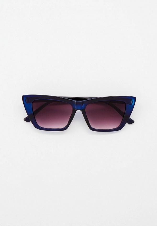 женские солнцезащитные очки кошачьи глаза vitacci, синие