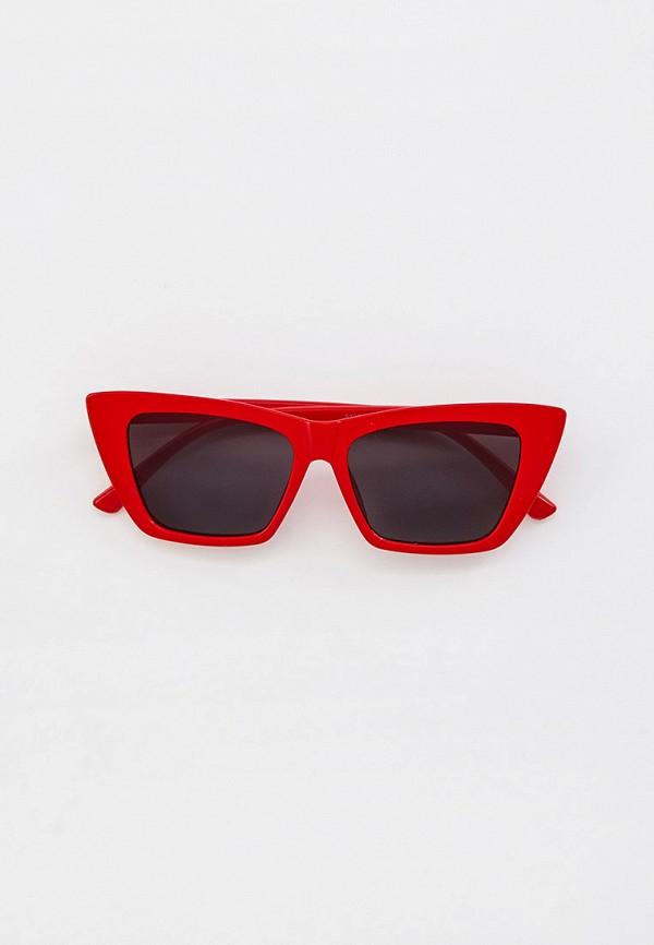 женские солнцезащитные очки кошачьи глаза vitacci, красные