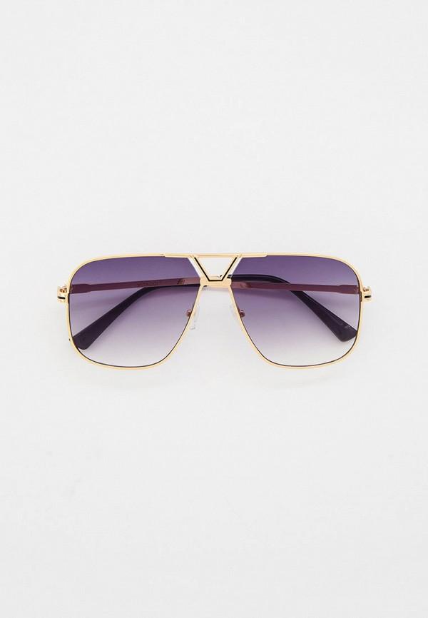 женские авиаторы солнцезащитные очки vitacci, золотые
