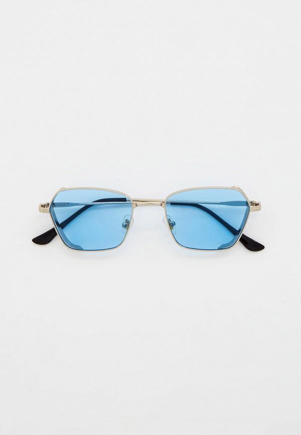 женские квадратные солнцезащитные очки vitacci, серебряные