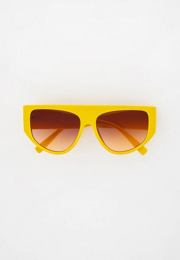 женские солнцезащитные очки vitacci, желтые