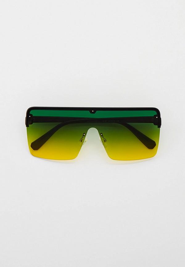 женские квадратные солнцезащитные очки vitacci, черные