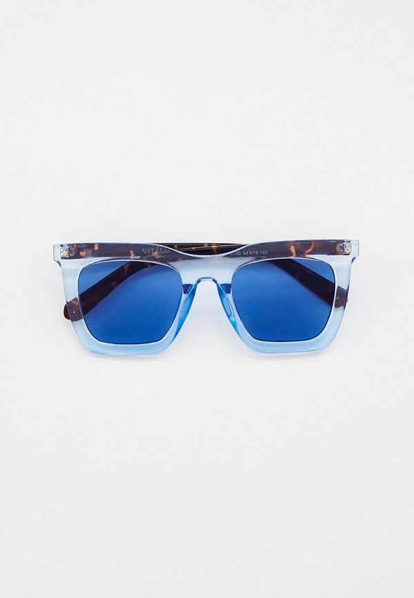 женские квадратные солнцезащитные очки vitacci, голубые