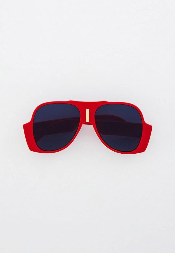 женские авиаторы солнцезащитные очки vitacci, красные