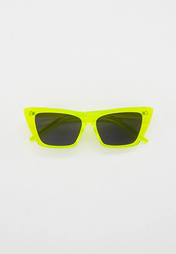 женские квадратные солнцезащитные очки vitacci, зеленые