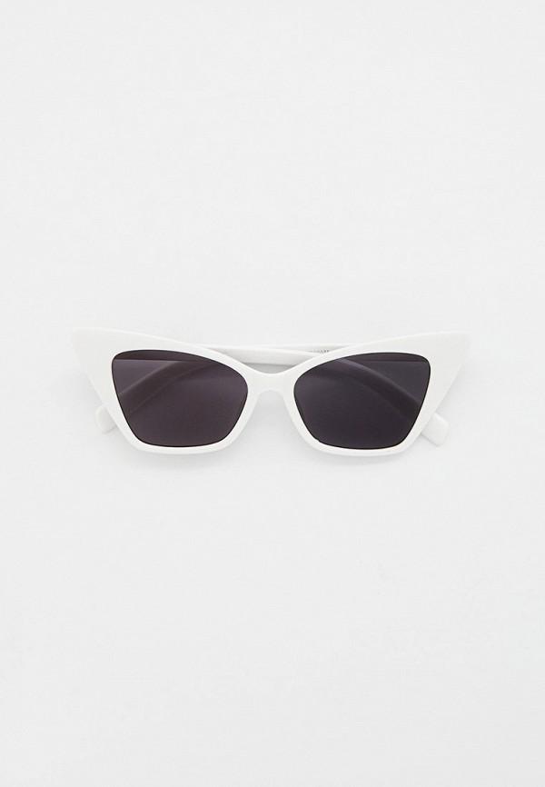 женские солнцезащитные очки кошачьи глаза vitacci, белые