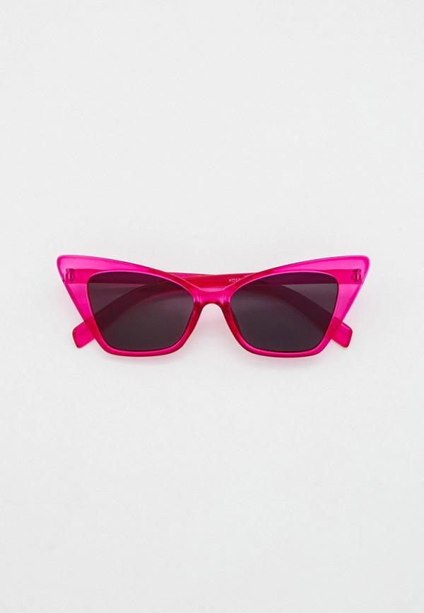 женские солнцезащитные очки кошачьи глаза vitacci, розовые