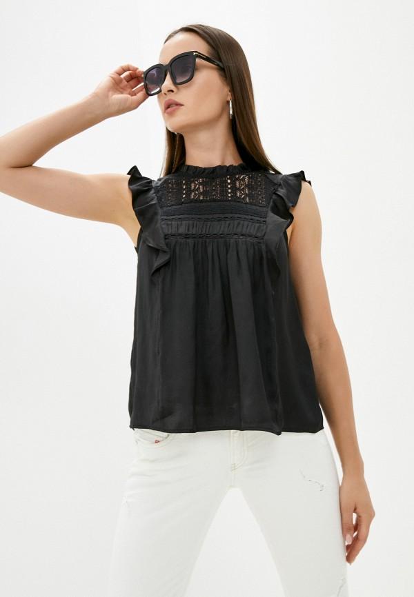 женская блузка без рукавов love republic, черная