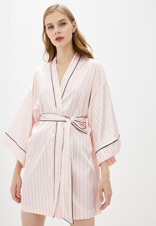 женский халат love republic, розовый